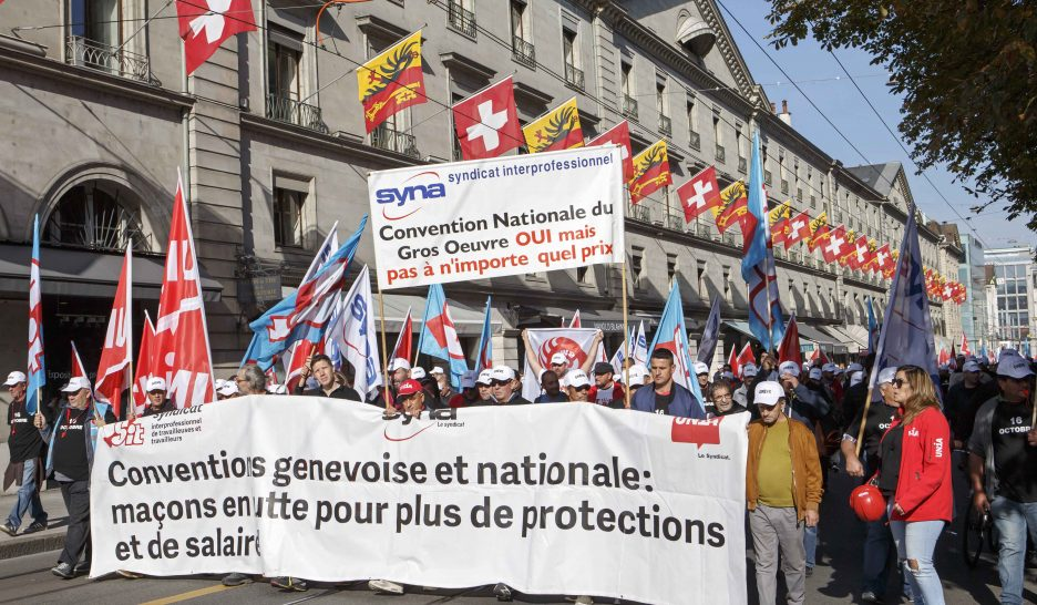 Manifeste syndical contre l'accord-cadre