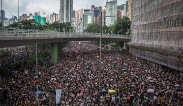 Manifestation record à Hong Kong