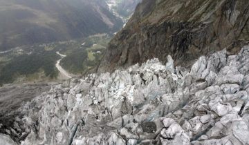 Un glacier du Mont Blanc menace de s'effondrer