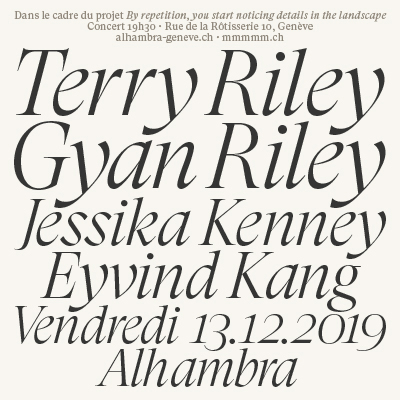 BY REPETITION - TERRY RILEY du 13 nov. au 13 dec. 2019