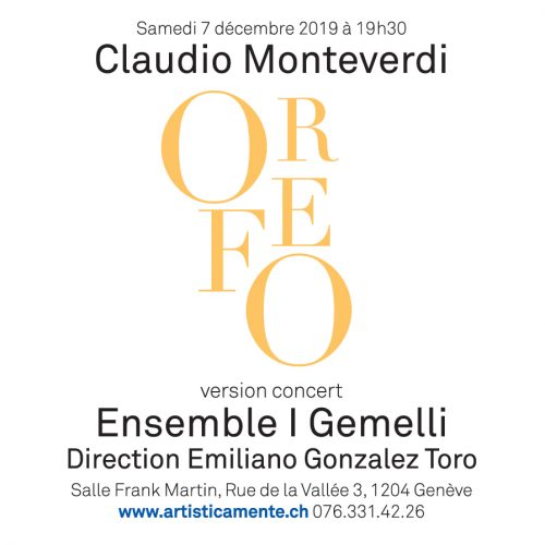 ORFEO du 30 nov. au 7 dec. 2019