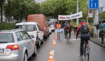 Actif-trafic transforme une route en piste cyclable